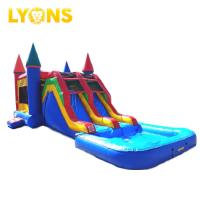 Buy cheap Cheap price inflatable bouncy castle blue red combo slide pool 7*4*4m for sale from wholesalers