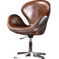 Buy cheap Alloy Base ergonomic Leather Office Desk Swan Chair Thick Aluminium Sheet outside from wholesalers