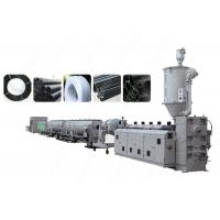 Buy cheap PLC Control PE PP Plastic Pipe Extrusion Line , Single Screw Extruder Machine from Wholesalers