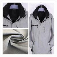 China High F Water Repellent Outdoor Fabric , Moisture Permeability Waterproof Jacket Fabric on sale