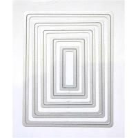 DIY rectangle scrapbook Geometric square die cutter Rectangular embossed document  3942