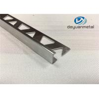 Quality Bright Silver Aluminium Trim Extrusion Profile With Triangle Punched wholesale