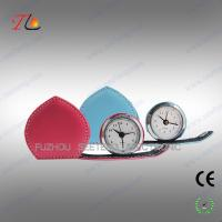 Buy cheap Mini folding heart shape leather travel clock alarming clock suitable for young ladies from Wholesalers