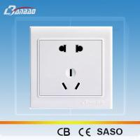 Buy cheap LK4015 2pole 3pin PC flush type power socket from Wholesalers
