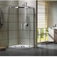 Buy cheap Semi - Frameless Curved Glass Shower Door Enclosures For Bathroom 100 X 100 X 195 cm from Wholesalers