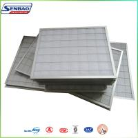 Buy cheap Industrial Clean Room Pleated Panel Air Filters Synthetic Fiber from Wholesalers