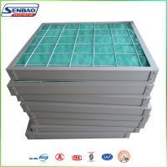 Buy cheap HVAC System Media Air Filter Fiberglass Fiber Pleated Panel 5um from Wholesalers