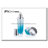 Buy cheap PMMA Gradient Blue Empty Makeup Containers For Lotion with Lid Bright Silver Plating from Wholesalers