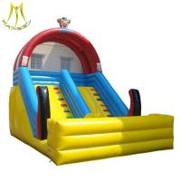 Buy cheap Hansel stock inflatable amusement park kids jumping castle with slide supplier from Wholesalers