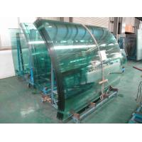 China Low Emissivity curved tempered safety glass buildings with flat edge on sale