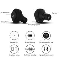 China High quality of ABS Plastic wireless bluetooth headphone with built-in battery 60mAh on sale