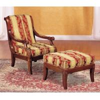 Buy cheap Fashion  Natural Timber Wood Rubber Armchair With Ottoman , Living Room Lounge Chair from wholesalers