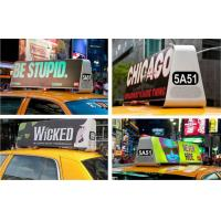 Buy cheap P5 Double Sided Car Top Advertising Signs , Taxi Cab Roof Signs Wireless 3G/Wifi from Wholesalers