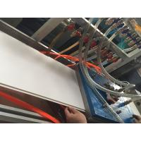China 300mm PVC Ceiling Panel Profile Extrusion Line Conical Double Screw Extruder on sale