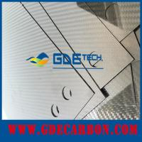 Buy cheap customized CNC glossy carbon fiber sheet from Wholesalers