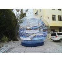 Buy cheap Xmas High Quality PVC Transparent Giant Inflatable Snow Globe from Wholesalers