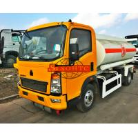 Buy cheap HOWO 1000 - 1200 Gallons Petrol Tank TruckCarbon Steel Tank Material from wholesalers