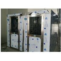 HEPA Filtered Stainless Steel Cleanroom Air Shower Channel , PLC Control System