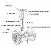 Quality Lithium Battery Segway Electric Scooter , 2 Wheel Self Balancing Electric Chariot wholesale