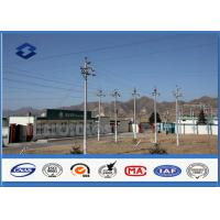 Power Distribution Equipment lattice steel pole , Conical Polygonal Galvanized electric utility pole