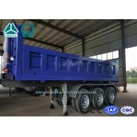 Buy cheap 40 Cubic Meter Rear Tipper Semi Trailer 3 Axle with 6 - 8 Steel Sheet , 9200mm Length from Wholesalers