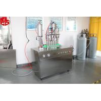 Buy cheap Shaving Foam Aerosol Can Filling Machine, Deodorant Aerosol Filling Machine Pneumatic Drive from Wholesalers