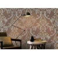 Buy cheap Removable Home Decoration Wallpaper 1.06*10m / Country House Wallpaper Floral Pattern from Wholesalers