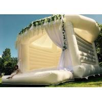 Buy cheap White Inflatable Wedding Bouncer House Romantic Ceremony Inflatable Jumping Castle from wholesalers