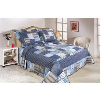 Microfiber Material Home Bed Quilts Oblong Shape For Bedroom Decoration