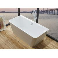 Buy cheap Glossy Solid Surface Acrylic Free Standing Bathtub Indoor Square Shaped from Wholesalers
