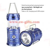 Buy cheap Plastic Multi-function Solar Camping Lantern Rechargeable,Portable Solar Rechargeable led Camping Lantern Flashlights from wholesalers
