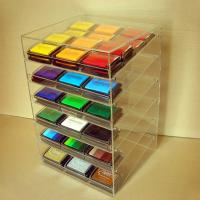 Buy cheap Acrylic Slant-Front Locking Display Case With 6 Angled Shelves for Purses, Makeups from Wholesalers