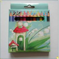 Buy cheap 3.5inch 6pcs round paint pencil for drawing in full color box from wholesalers