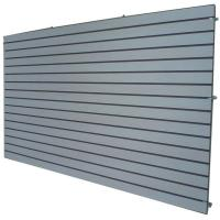 Buy cheap Cosmetics Shop Gray Wooden Slatwall Panel With Slots Or Grooves from wholesalers