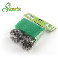 Buy cheap Stainless Steel 410/430 Metal Scrub Pad , Kitchen Abrasive Stainless Steel Scouring Ball from wholesalers