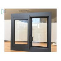 Buy cheap Single Tempered Glass Aluminium Sliding Windows Thin Frame Profiles from wholesalers