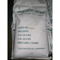 Buy cheap E262 FCC Anhydrous Sodium Acetate high purity 99% Pure , CH3CooNa from wholesalers