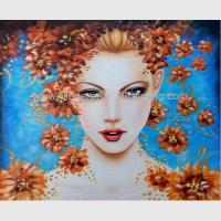 China Contemporary Figurative Oil Painting Art Female Portrait Painting Newest Style on sale
