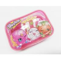 Buy cheap Cute & Lovely Girl Pink Vinyl Zipper Pouches , Non-toxic Clear Plastic Makeup Bag from wholesalers