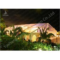 Buy cheap Transparent PVC Fabric Cover Luxury Wedding Tents Buildings With Aluminum Profile from Wholesalers