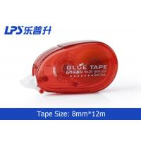 Quality Red Double Side Adhesive Roller / Glue Tape Runner For DIY Craft wholesale