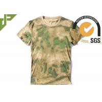 Quality Short Sleeve Multicam Tactical T Shirts 100% Cotton Breathable For Men wholesale