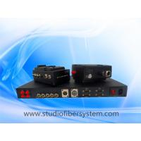 Sony/Panasonic/JVC Camera EFP Fiber system with Party-line audio,compatible Clear-com,support tally,remote,genlock,CVBS