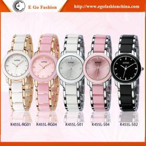 KM02 Pink Bracelet Watch Bangle Watches Woman Girls Office Lady Watch KIMIO Quartz Watch