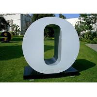 Buy cheap Letter O Garden Free Standing Sculpture Large Stainless Steel letter Sculpture from Wholesalers