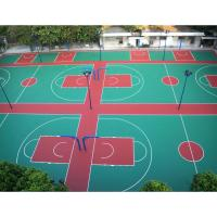 Buy cheap Resurface Basketball Sport Court For Table Tennis , Outdoor Rubber Basketball Flooring from Wholesalers
