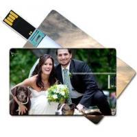Buy cheap Large area Custom-made Full Color Plastic Credit Card USB Flasth Drive from wholesalers
