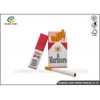 Buy cheap Double Colors Cigarette Packaging Box Biodegradable Featuring Matt Lamination from Wholesalers