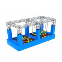 China American Inflatable Sports Games / Kids Game Ninja Warrior Obstacle Course Trampoline on sale