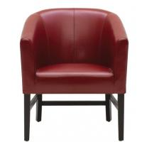 Buy cheap Home Furniture burgundy Upholstered Leather Living Room Chair for Accent Club from Wholesalers